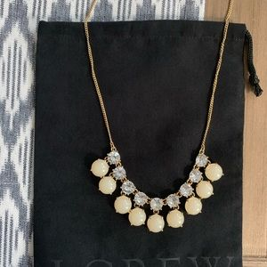 J.Crew Cream Bauble & Rhinestone Necklace